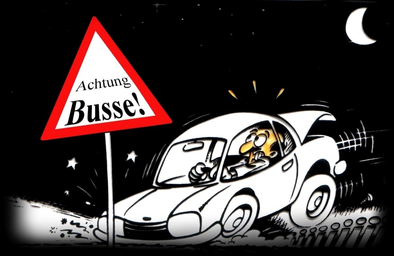 strafe zu schnelles fahren